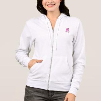 Sweat - shirt à capuche d'ouatine du cancer du