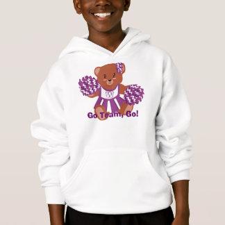 Sweat - shirt à capuche d'ours de pom-pom girl de