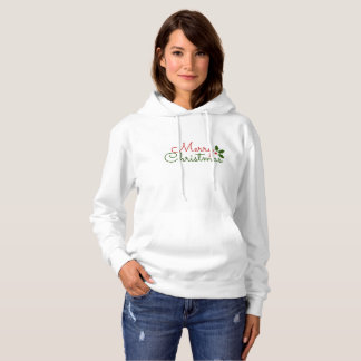 SWEAT - SHIRT À CAPUCHE GENTIL BLANC : CHRITSMAS