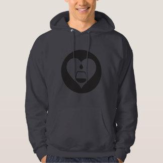 Sweat - shirt à capuche graphique noir de logo de