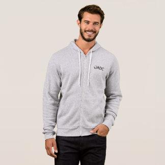 Sweat - shirt à capuche gris de fermeture éclair