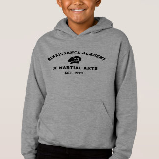 Sweat - shirt à capuche gris de RAM des enfants