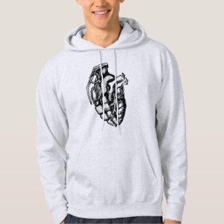Sweat - shirt à capuche humain de coeur