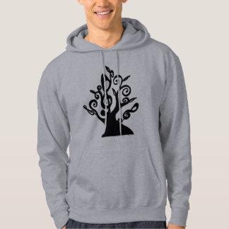 Sweat - shirt à capuche musical d'arbre