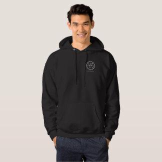 Sweat - shirt à capuche noir avec le logo blanc de