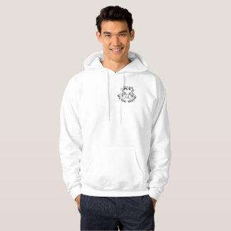 Sweat - shirt à capuche noir de logo marqué par