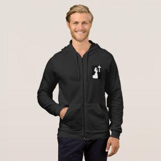 Sweat - shirt à capuche noir de tirette de TFD