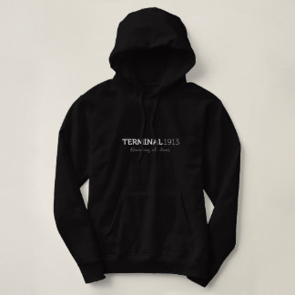 Sweat - shirt à capuche noir du terminal 1913 pull à capuche