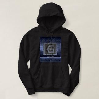 Sweat - shirt à capuche noir et pourpre de