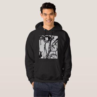 Sweat - shirt à capuche noir (trouble-fête)