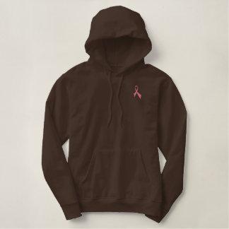 Sweat - shirt à capuche rose de pull de ruban de