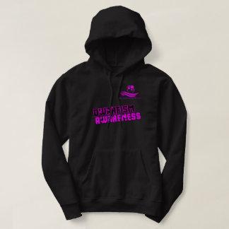 Sweat - shirt à capuche rose et noir LPOTW de