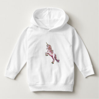 Sweat - shirt à capuche rose mignon de licorne