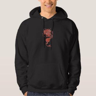 Sweat - shirt à capuche rouge de dragon sweat à capuche