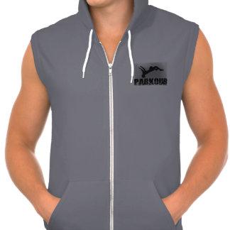 Sweat - shirt à capuche sans manche de fermeture sweatshirts avec capuche