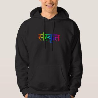sweat - shirt à capuche sanskrit