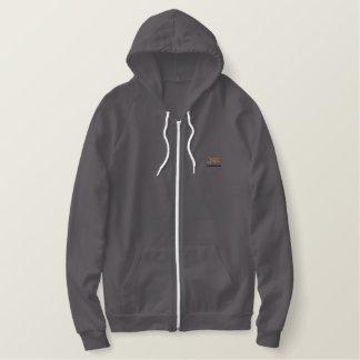 Sweat - shirt à capuche thermique de fermeture sweatshirt à capuche brodé