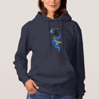 Sweat - shirt à capuche tribal d'obscurité de