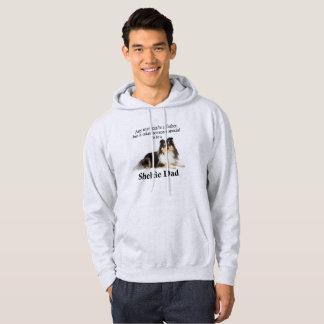 Sweat - shirt à capuche tricolore de papa de