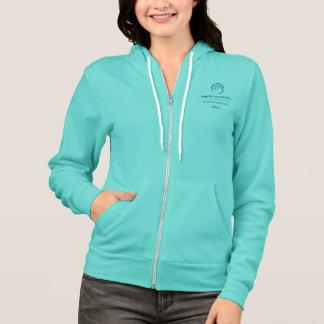 Sweat - shirt à capuche turquoise de fermeture