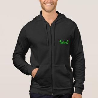 sweat - shirt à capuche vert de logo de lambeau