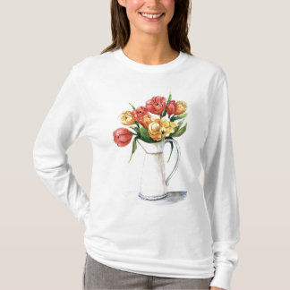 Sweat shirt de tulipes