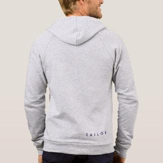 Sweat-shirt nautique avec capuche et crémaillère veste à capuche