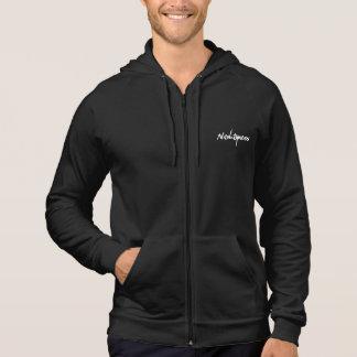 sweat-shirt sans douille noir avec capuche et logo veste à capuche