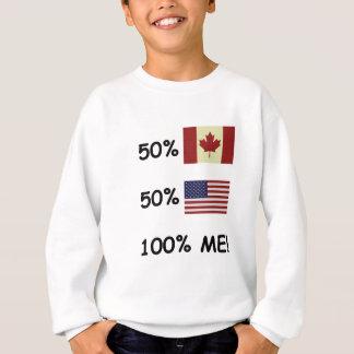 Sweatshirt 100% JE Canadien/Américain