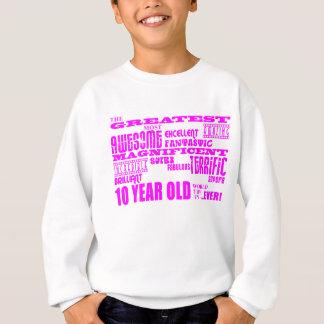 Sweatshirt 10èmes anniversaires de filles : Plus grands 10