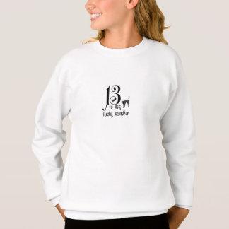 Sweatshirt 13 est mon nombre chanceux/avec le chat noir