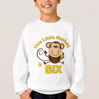 Sweatshirt 6ème garçon de Birhday de petit singe