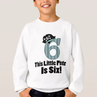 Sweatshirt 6ème pirate mignon d'anniversaire