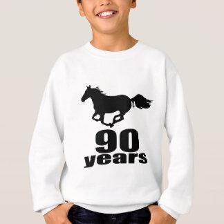 Sweatshirt 90 ans de conceptions d'anniversaire