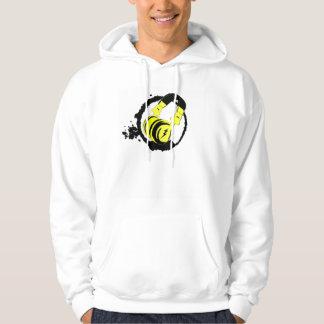 Sweatshirt à capuche blanc logo casque