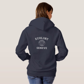 Sweatshirt à capuchon avec de logo le dos vintage