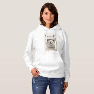 Sweatshirt à capuchon d'alpaga