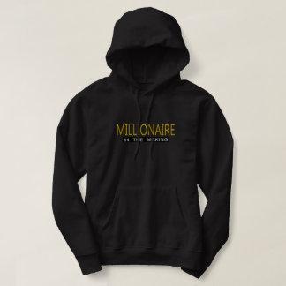 Sweatshirt à capuchon de base noir - millionnaire