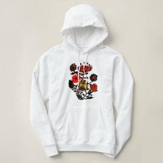 Sweatshirt à capuchon de fleurs fabuleuses