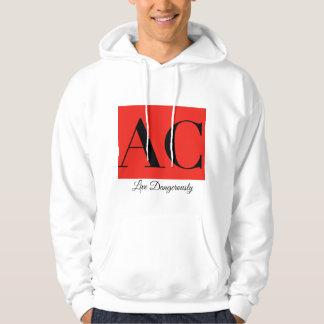 Sweatshirt à capuchon de logo et de devise
