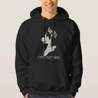 Sweatshirt à capuchon de loup personnalisé par