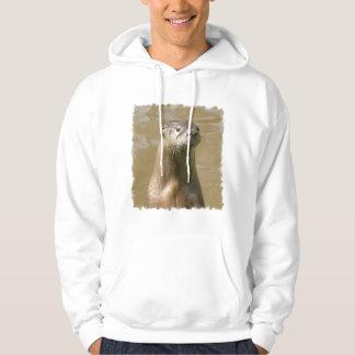 Sweatshirt à capuchon de loutre curieuse
