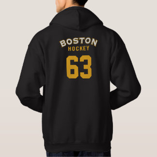 Sweatshirt à capuchon de noir d'hockey de Boston