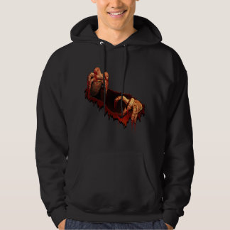 Sweatshirt à capuchon de zombi d'horreur de sweat