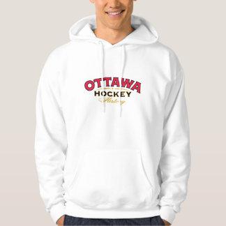 Sweatshirt à capuchon d'histoire d'hockey d'Ottawa