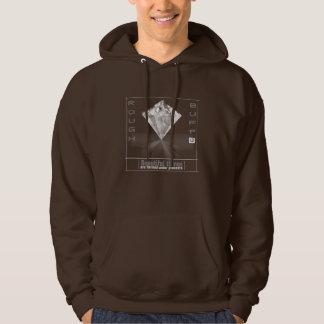 Sweatshirt à capuchon du diamant des hommes