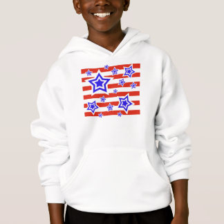 Sweatshirt à capuchon patriotique d'étoiles et