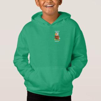 Sweatshirt à capuchon vert d'Eddie