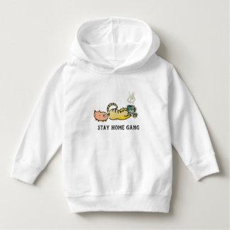 Sweatshirt à la maison de bande de séjour