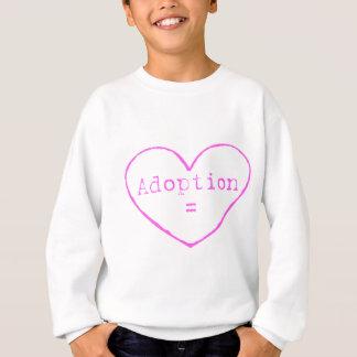 Sweatshirt Adoption = amour dans le rose